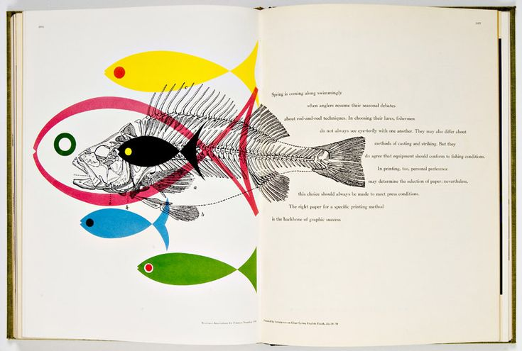#illustration #colors - Bradbury Thompson, Spread from Westvaco II: Inspiration for Printers 1953-55