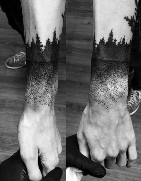 Stippling Tattoo Sleeves: The Dot Stipple Tattoo Effect And Sleeve Is Just Amazing