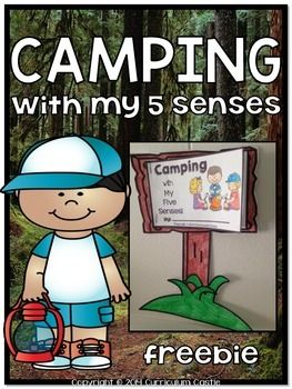Have students experience the world of camping using all of their five senses! This camp theme freebie includes:1. Camp sign template2. 5 senses mini book pages3. Creative writing sheets {camp theme printable paper}Detailed directions and pictures for making this craftivity are also included!: