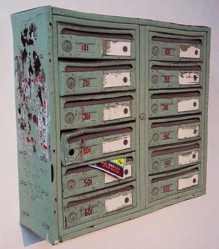 Gao Rong, Mailbox 2011, Embroidery, cloth, and foam