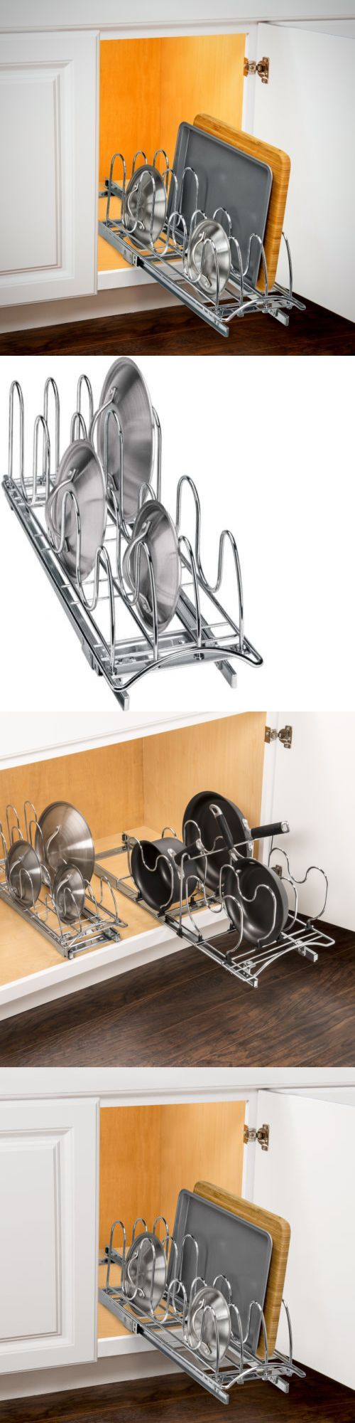 Racks and Holders 46283: Pan Lid Holder Kitchen Organizer Rack Pull Out Cabinet Metal Chrome Pantry Home -> BUY IT NOW ONLY: $41.97 on eBay!