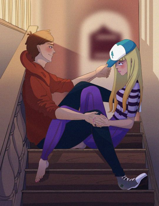i didnt know this was dipper and pacifica until i saw the hat