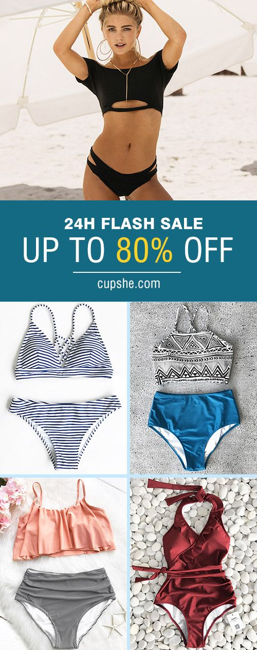 Clearance! Can't be hotter! UP TO 80% OFF! Various styles! Find your favouritge beach vibes~ Cupshe leads life on the beach~ Prepare for your next trip. FREE shipping. Pack now~