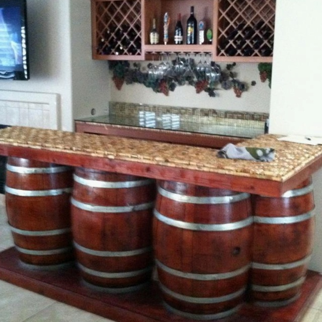 84 best images about basement on pinterest basement for Wine cork bar top