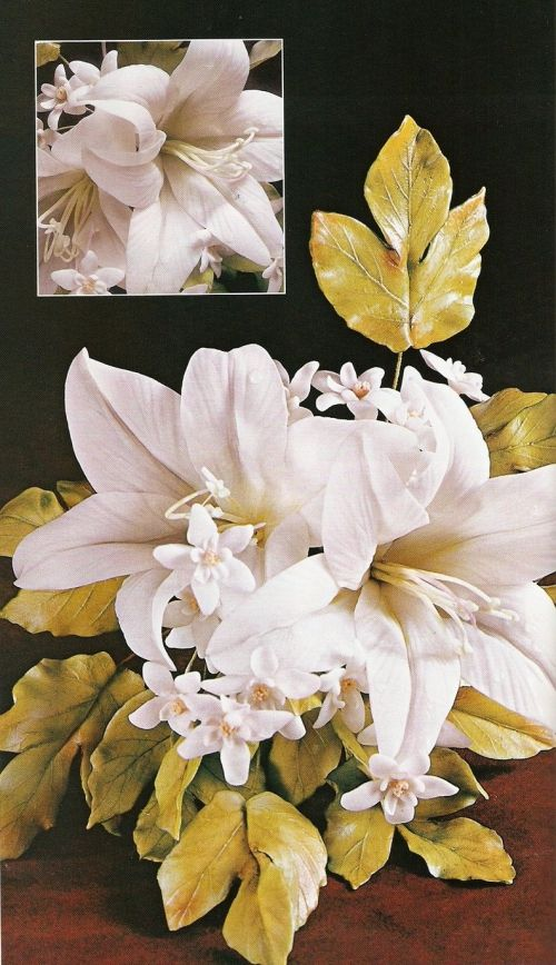 подробный мастер-класс для начинающих, лилия, лилии из полимерной глины, реалистичные цветы из пластики