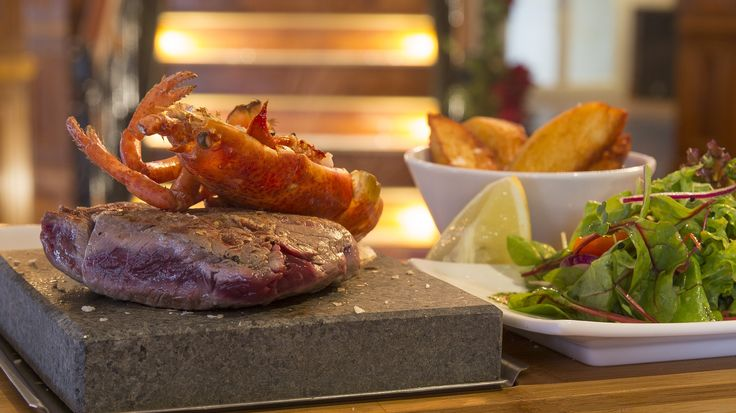 Surf N Turf - Grilled Lobster and 8oz Rump Steak #grill #steak #seafood mksocial.co.uk