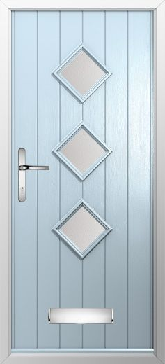 Composite door ex&le of 3 diamond in Duckegg blue. High quality secure and & 874 best New Composite Door range at Just Value Doors images on ... Pezcame.Com