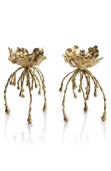 Michael Aram 'Water Hyacinth' Candle Holders (Set of 2) available at #Nordstrom