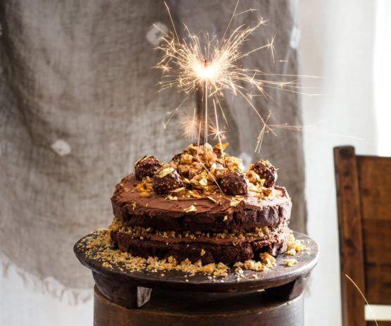 Ferrero Rocher Chocolate Hazelnut Cake by Nadia Lim | NadiaLim.com