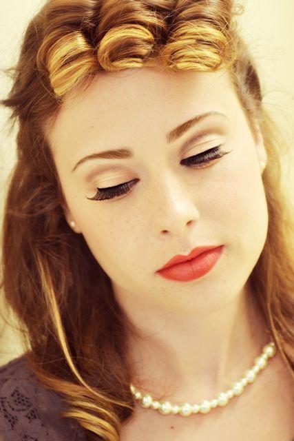 1940's makeup   Period Style Makeup   Pinterest   The o ...