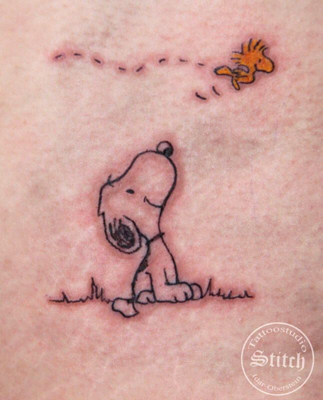 Woodstock Snoopy tattoo