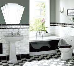 black and white bathroom metro tiles