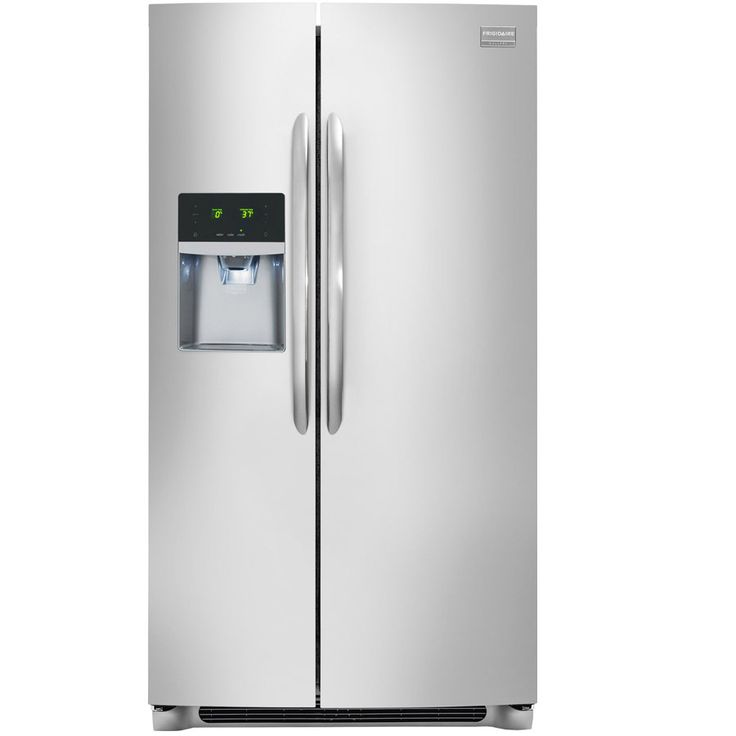 Shop Frigidaire Gallery 22.2-cu ft Counter-Depth Side-by-Side Refrigerator with Single Ice Maker (Stainless Steel) at Lowes.com