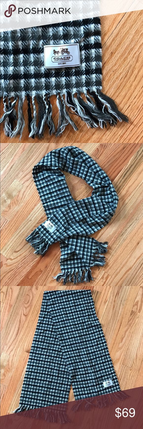 🅾️ Coach Scarf / Beautiful Love this scarf. Wonderful condition. A beautiful, classic staple to have for years. Coach Accessories Scarves & Wraps
