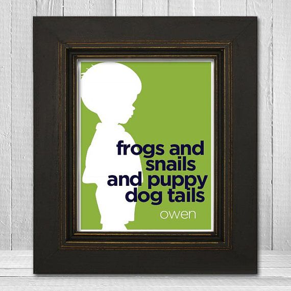 Custom 11x14 Little Boys Room Print Boy Silhouette by TheLemonPeel, $24.00