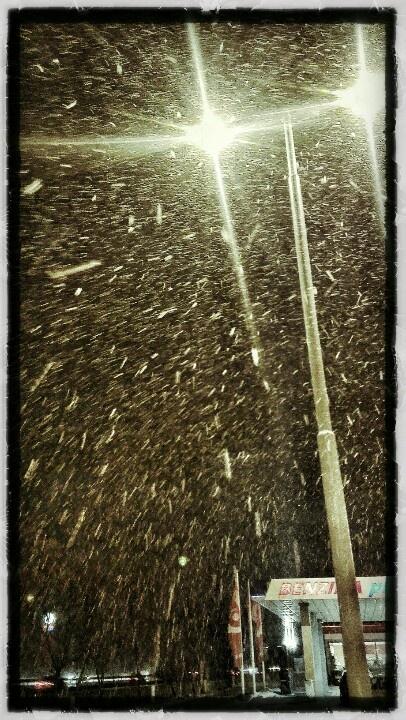 Snowfall, Prague