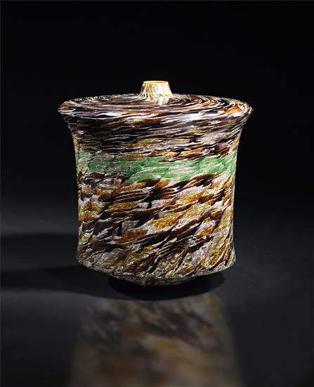 Yoichi Ohira (Japanese, b. 1946), Unique Hand-blown Murrine Glass Vase, 2005.