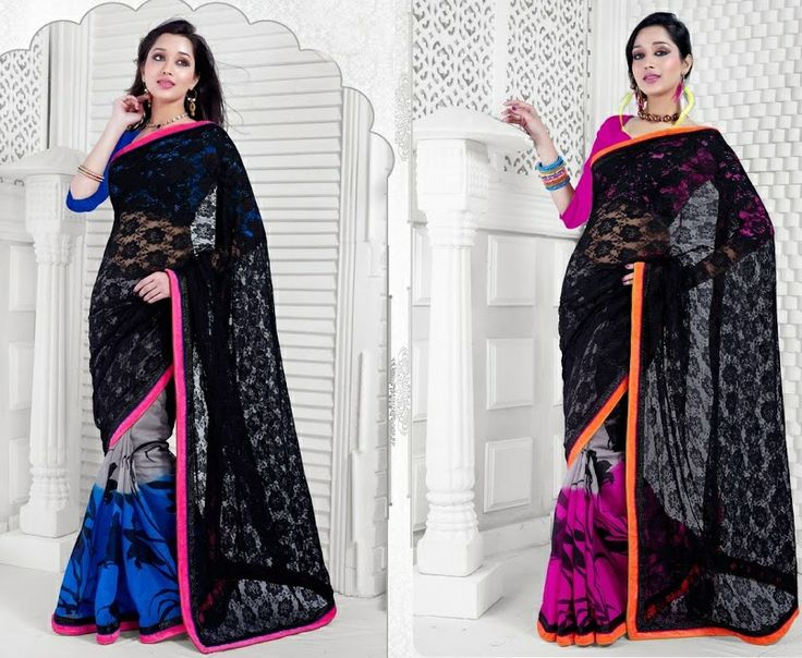 Black Georgette Silk Saree @ 2100INR
