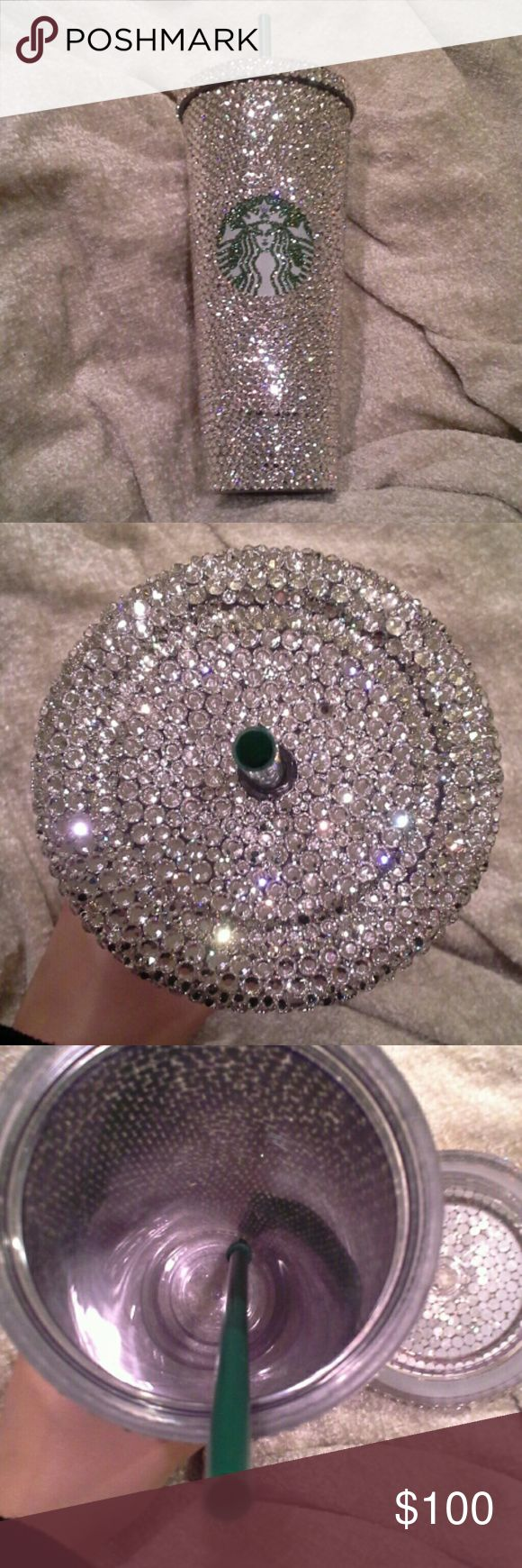 Swarovski Crystal Large Starbucks Cup -All prices negotiable  -Offers using offer button -No trades -No holds  -Bought off etsy -Swarovski Crystals  -Large Starbucks cup  -Cold drinks only -Never used  -Reason for selling: never used. starbucks Other