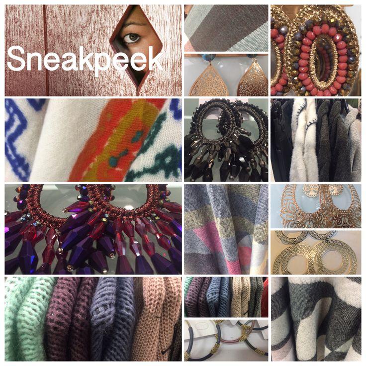 Terug van inkoop... En ... YESSS weer veel nieuwe #sjaals #oorbellen #vesten #truien #bloesjes #jurkjes  www.deleukedingen.nl