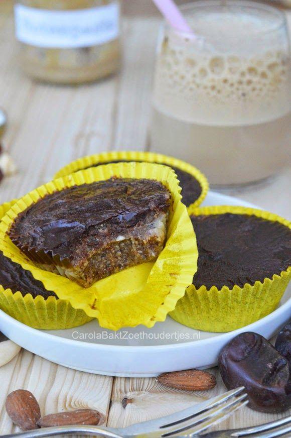 Carola bakt Zoethoudertjes: Gezonde cupcakes van Rens Kroes Healthy cupcakes , easy and no bake.