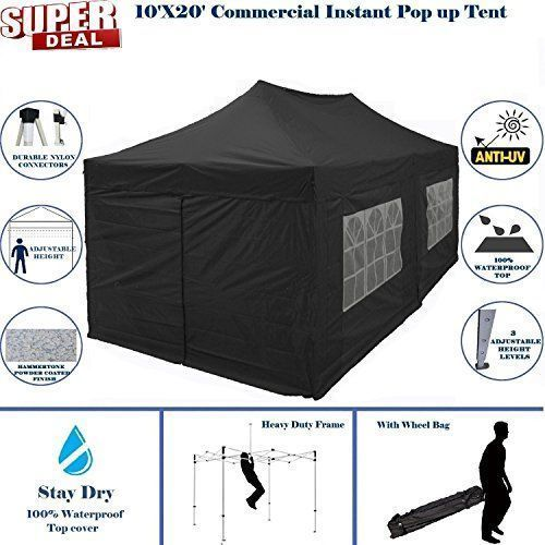 Best Camping Tents 10x20 Pop Up Canopy Wedding Party Tent Instant Ez Up Canopy Black F Model Commercial Frame By Delta10x20 Pop Up Ca Best Tents For Camping Tent Camping Tent
