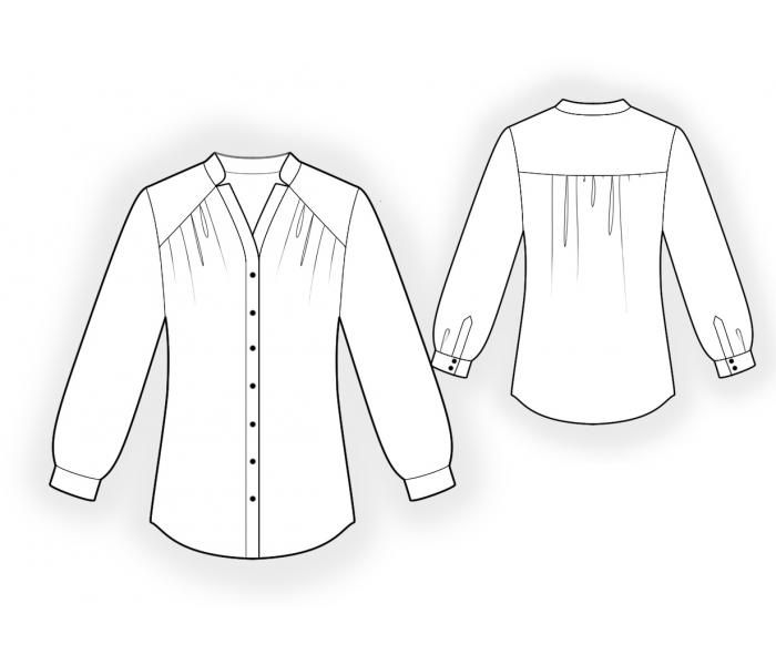 Blouse Patterns For Sewing Free Collar Blouses
