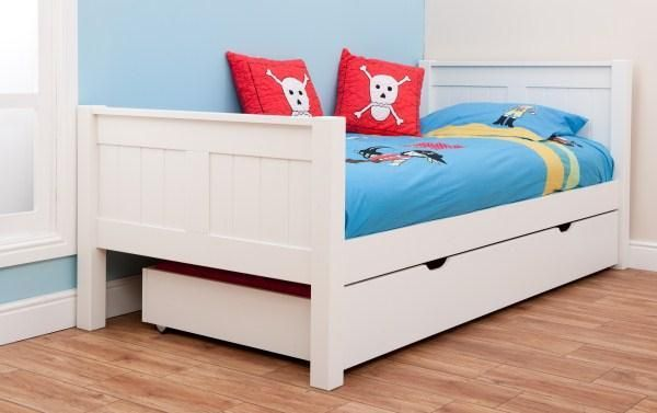 home built beds for boys | Home > Boys > Single Beds > Classic Kids Single Bed White