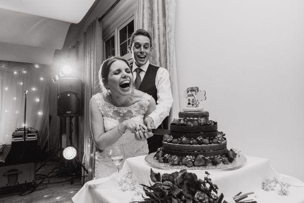 'Cake a cutting' at Laura & John's! :)