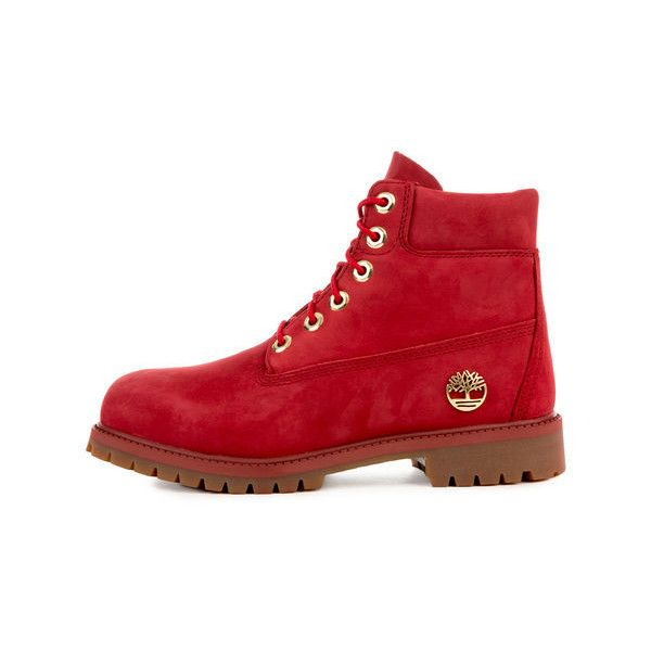 Timberland The 6 Premium Boot in 40th Ruby Waterbuck - Karmaloop.com ($100) ❤ liked on Polyvore featuring shoes, boots, timberland footwear, ruby shoes, timberland boots, ruby boots and timberland shoes