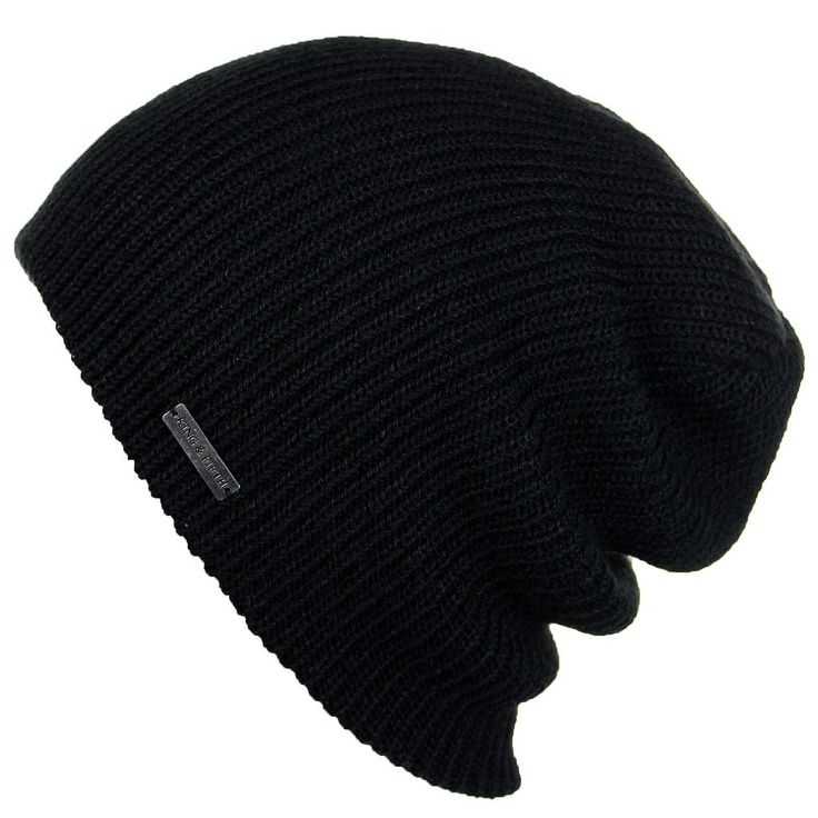 Mens Slouchy Beanie - The Forte beanie is a slouchy winter beanie for men. Made with very soft acrylic yarn, this beanie is perfect for your mens style.