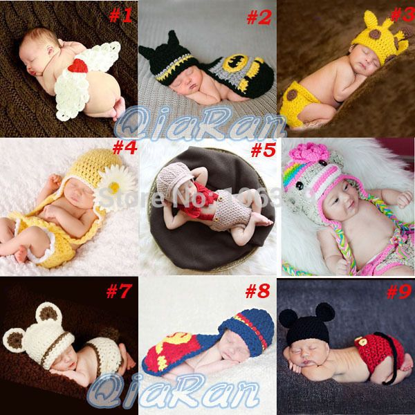 Cheap hat labels, Buy Quality hat xxxl directly from China hat cosplay Suppliers: Retail Baby Newborn Photography Props Costume Hand Crochet Knit Infant Beanie Hat with Cape Animal Des