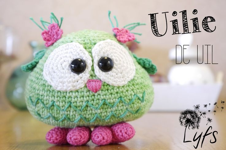 Crochet owl - Lyfs by Audrey