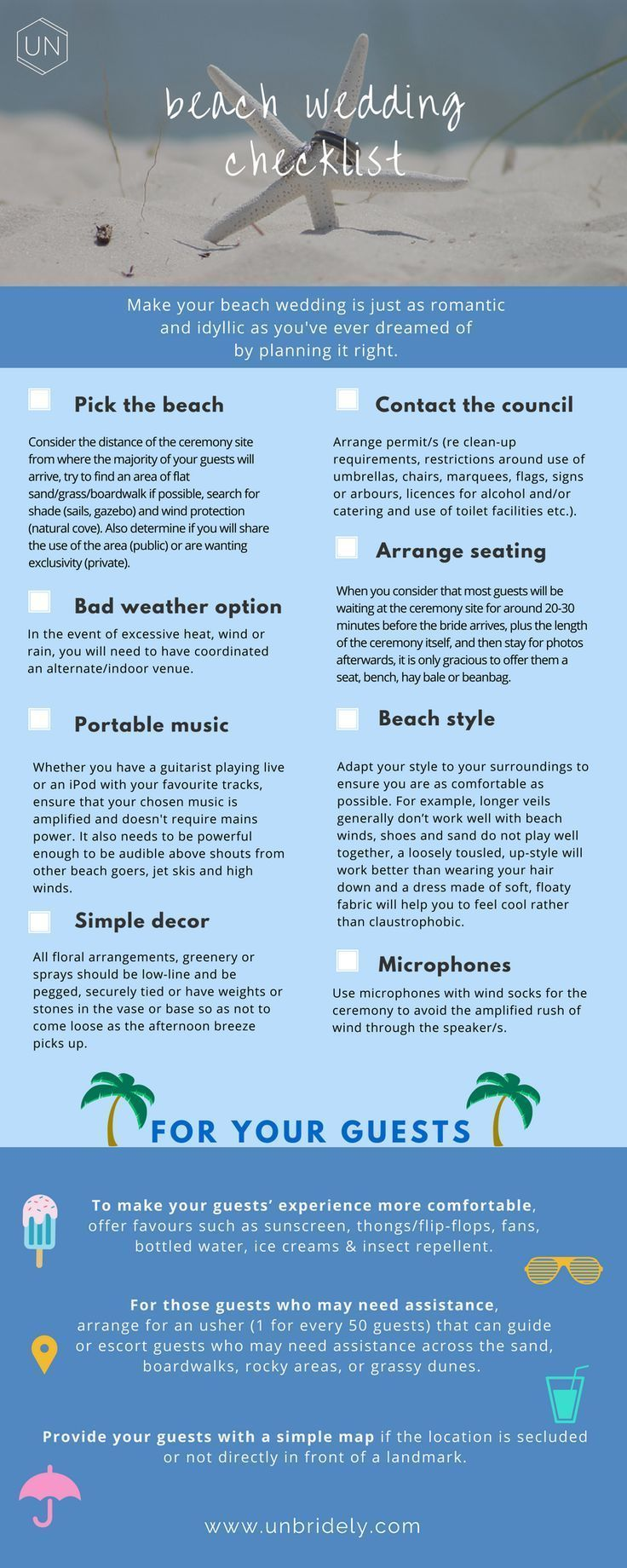 6 Things I Have Learned About Beach Weddings Unbridely Wedding Checklist Destination Wedding Checklist Wedding Decoration Checklist