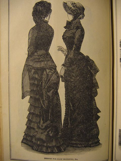 Victorian half mourning by bustlelady, via Flickr