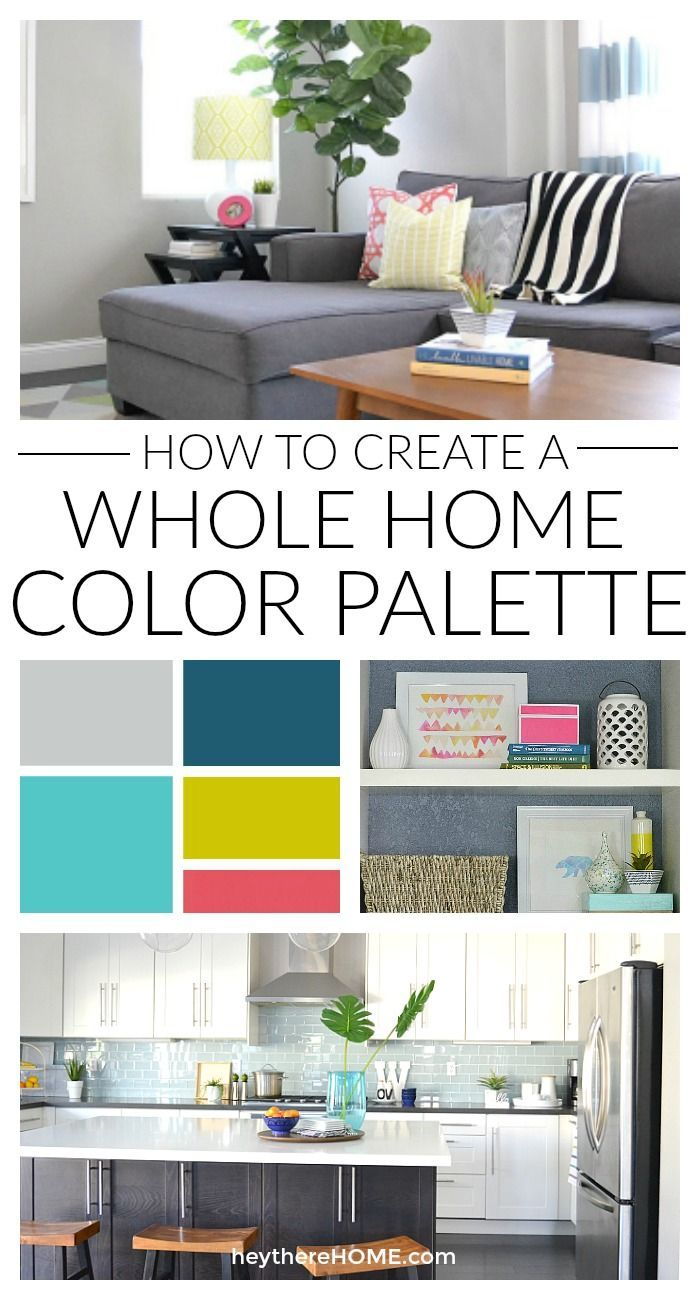 Easy steps and great explanation to create a whole home color palette. Having a color scheme is such a great way to get a cohesive look for your décor. via @heytherehome