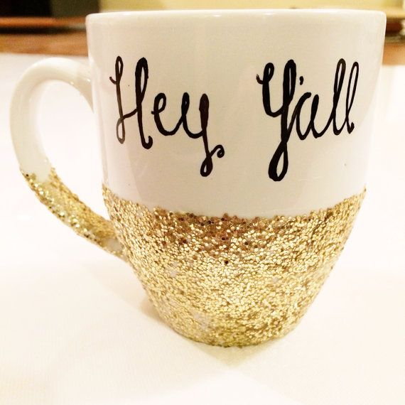 Hey+Y'all+Southern+Charm+white+gold+and+black+by+KatiKatiGoods,+$21.50