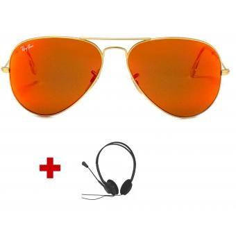 Aviator Flash 112/69-Naranja Espejo - Gratis Audífonos -