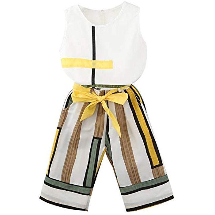 TOOGOO Maedchen Kleidung Sets Neue Sommer Mode Maedchen Aermelloses Design T-Shi…