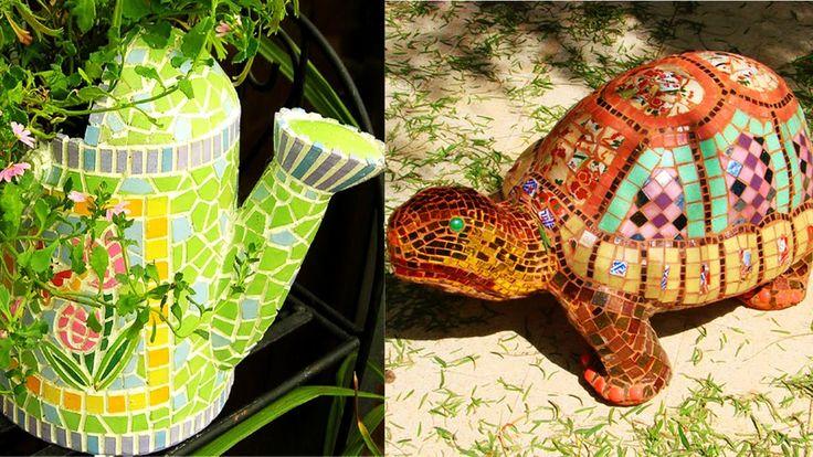 Поделки из керамической плитки.Crafts made of ceramic tile.