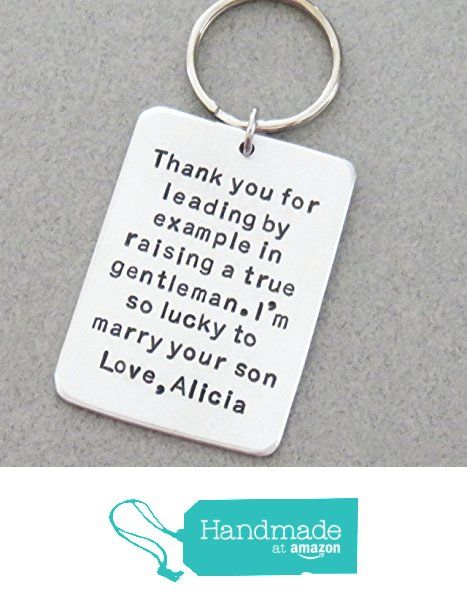 Wedding Gift For Father Of The Groom Stamped Keychain In Law