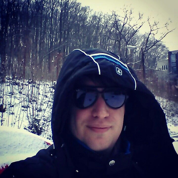 Prague in snow