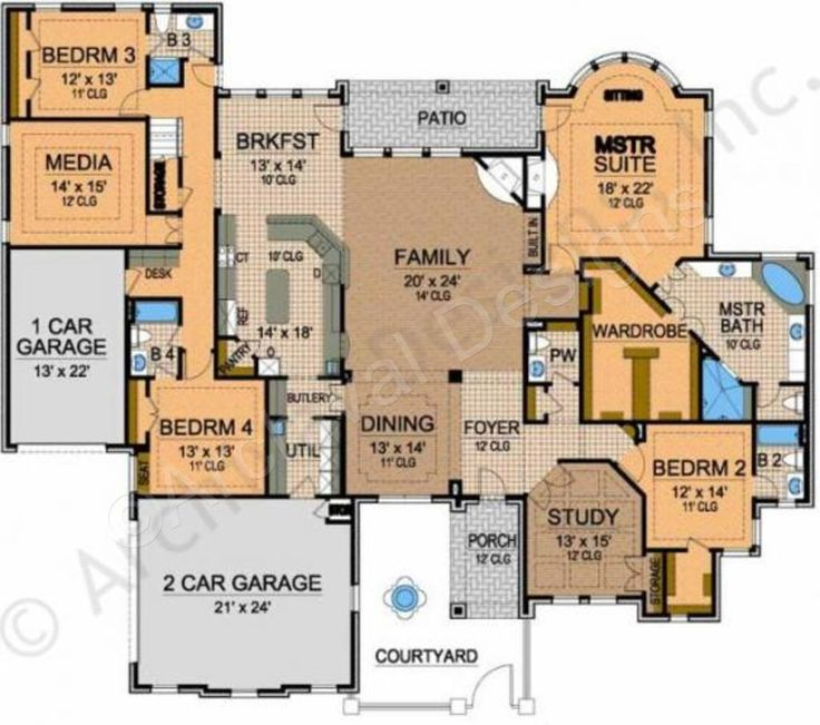 Floor Plans For Large Homes | 12 Best Floor Plans Images On Pinterest Plants Buildings And