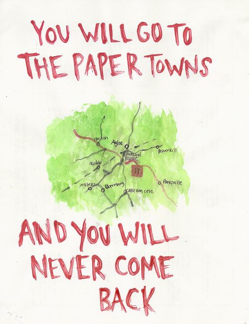 I just read this. Very good book.....Paper Towns (By John Green)