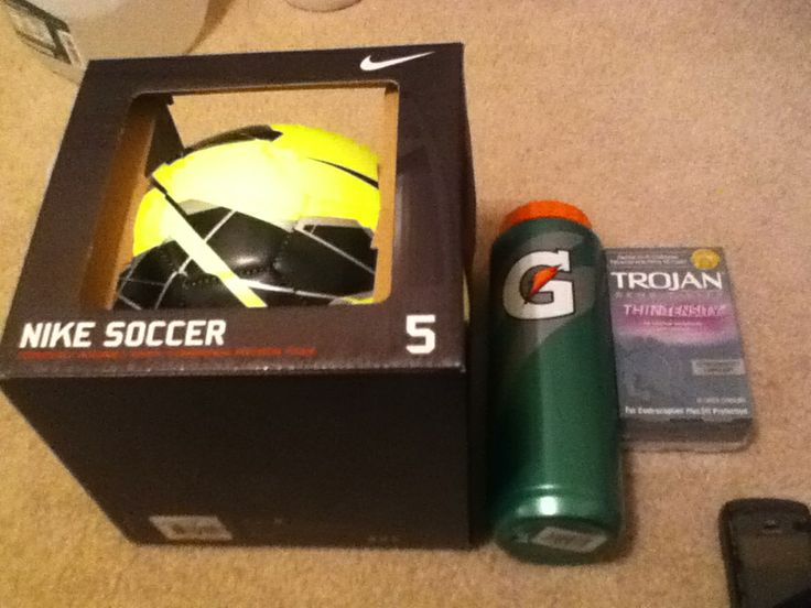 Valentines Day Present To My Boyfriend Soccer Condoms Valentinesday