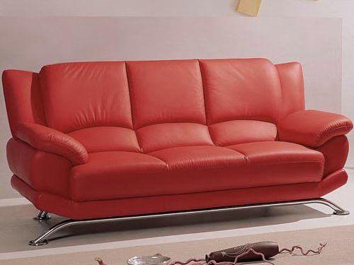 Orange Leather Sofa For Sleeper