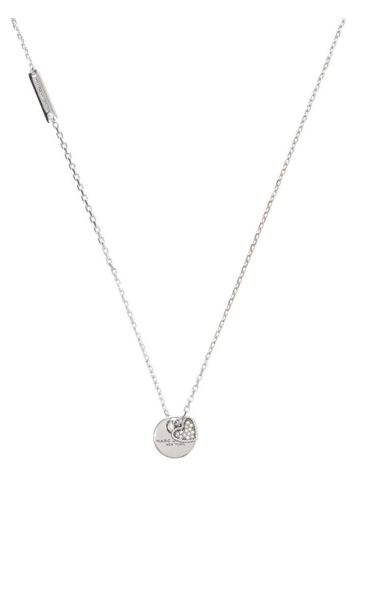 Halsband MJ Coin Pendant Heart CRYSTAL/SILVER - Marc Jacobs - Designers - Raglady