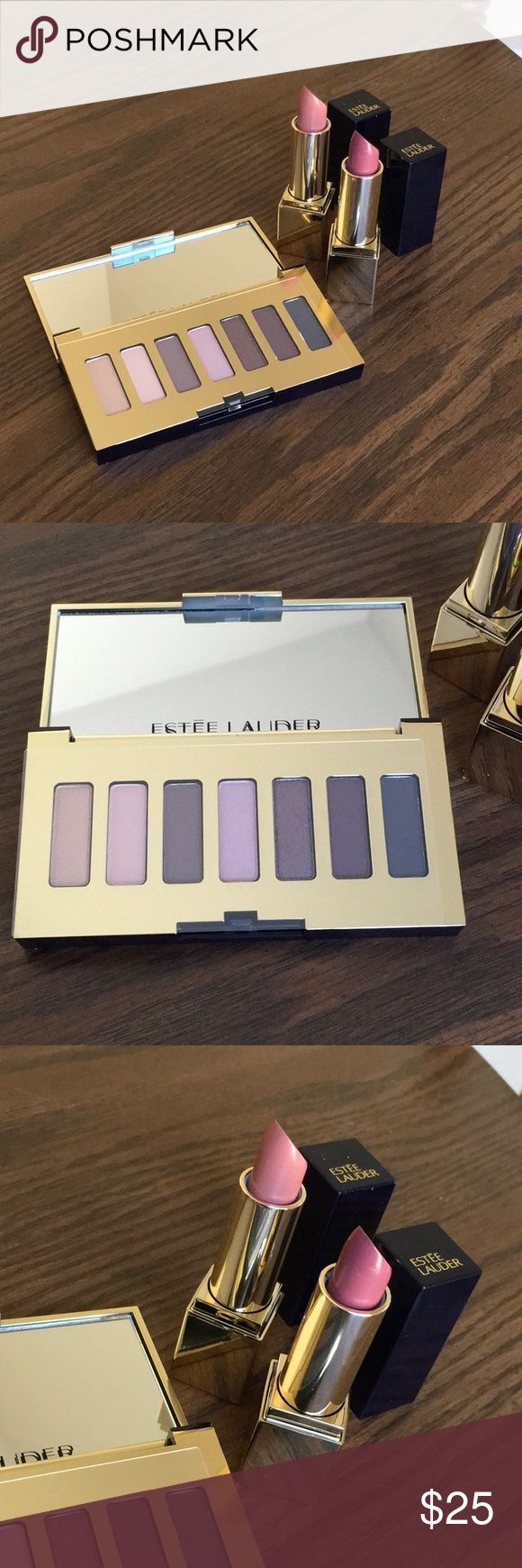 Estée Lauder Gift Estée Lauder Gift includes: Pure Color Envy Sculpting Eyeshadow Palette - Night (7 Eyeshadows) 0.01 oz and 2 Pure Color Envy Lipsticks (1) 110 Insatiable Ivory and (1) 440 Irresistible 0.12 oz each (originally $32 each!) All items are brand new! Estee Lauder Makeup
