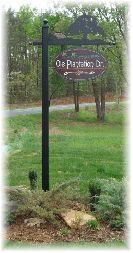 Custom Street signs created for Ole Plantation Community, Western NC