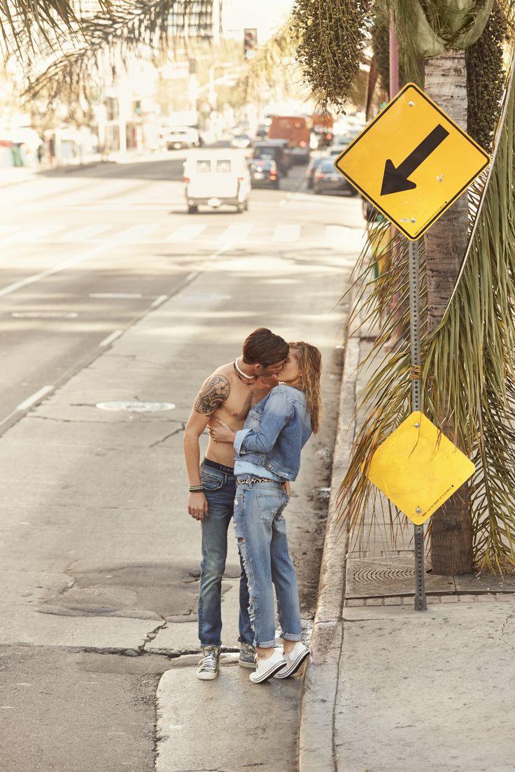 Love is in the air #HilfigerDenim — with Hailey Baldwin.